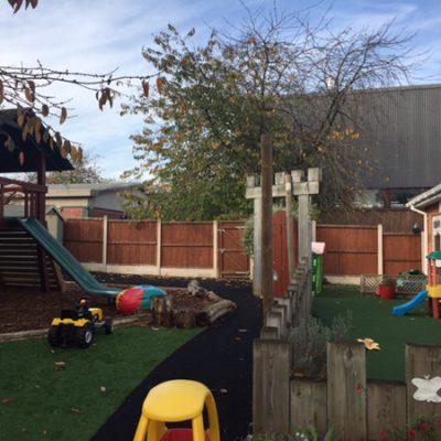The garden at Dollymixtures Nursery in Stafford